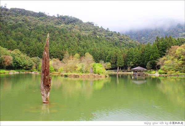 宜蘭景點》明池森林遊樂園區,簡直是美如仙境,怎麼拍都像明信片般的風景畫~
